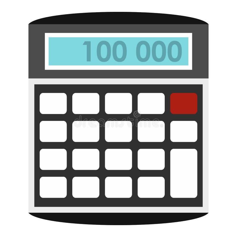 Icône de calculatrice, style plat illustration stock