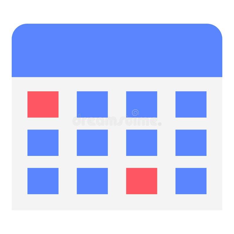 Icône de calendrier mural, style plat illustration de vecteur