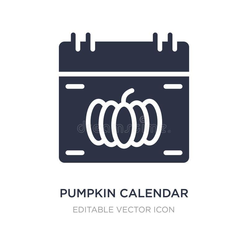 icône de calendrier de potiron sur le fond blanc Illustration simple d'élément de l'autre concept illustration stock