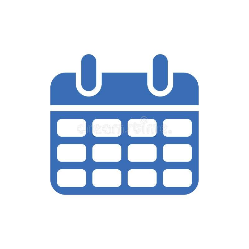 Icône de calendrier - symbole d'événement - icône de jour ou de mois - illustration plate de vecteur d'isolement sur le fond blan illustration libre de droits