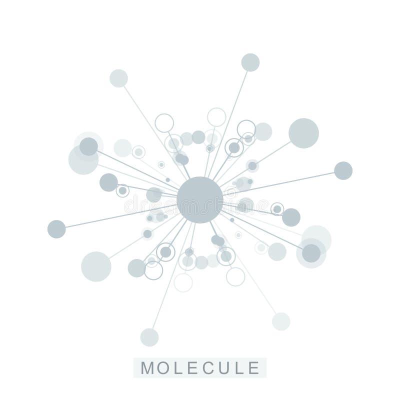 Icône de calibre de logo de molécule, logotype de la génétique de la science, hélice d'ADN Analyse génétique, ADN biotechnologiqu illustration libre de droits