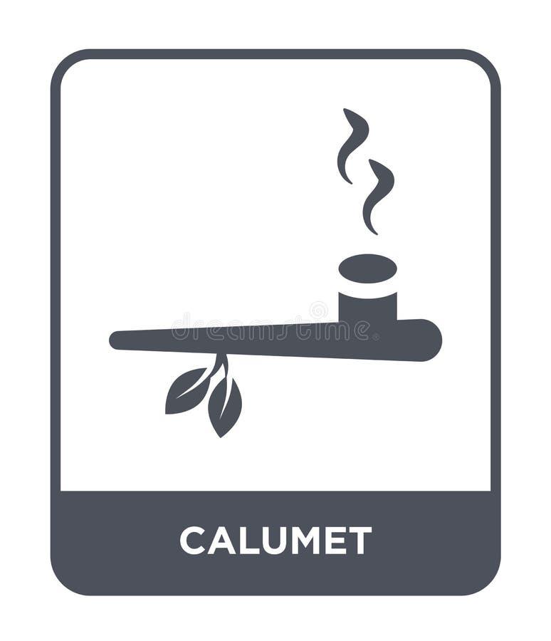 icône de calumet dans le style à la mode de conception icône de calumet d'isolement sur le fond blanc symbole plat simple et mode illustration stock