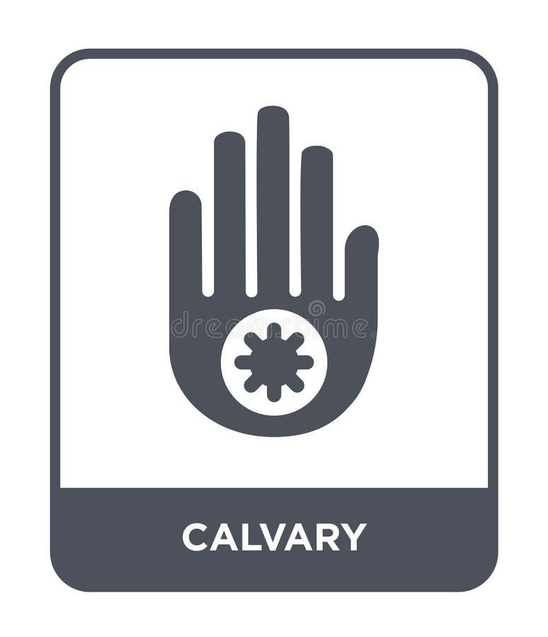 icône de calvaire dans le style à la mode de conception icône de calvaire d'isolement sur le fond blanc symbole plat simple et mo illustration de vecteur