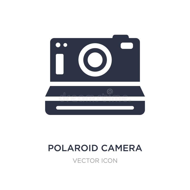 icône de caméra polaroïd sur le fond blanc Illustration simple d'élément de concept de matériel illustration libre de droits