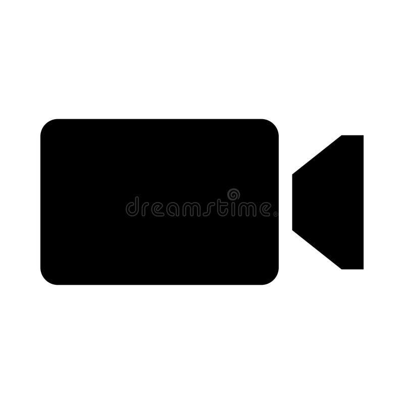 Icône de caméra vidéo illustration stock