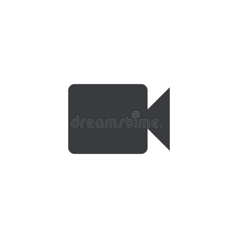 Icône de caméra vidéo Caméra de film de forme de vecteur Signe de caméscope Bouton d'interface Élément pour l'appli ou le site We illustration stock