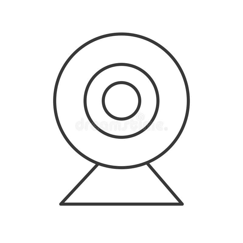 Icône de caméra web, vecteur parfait de pixel de pictogramme illustration de vecteur