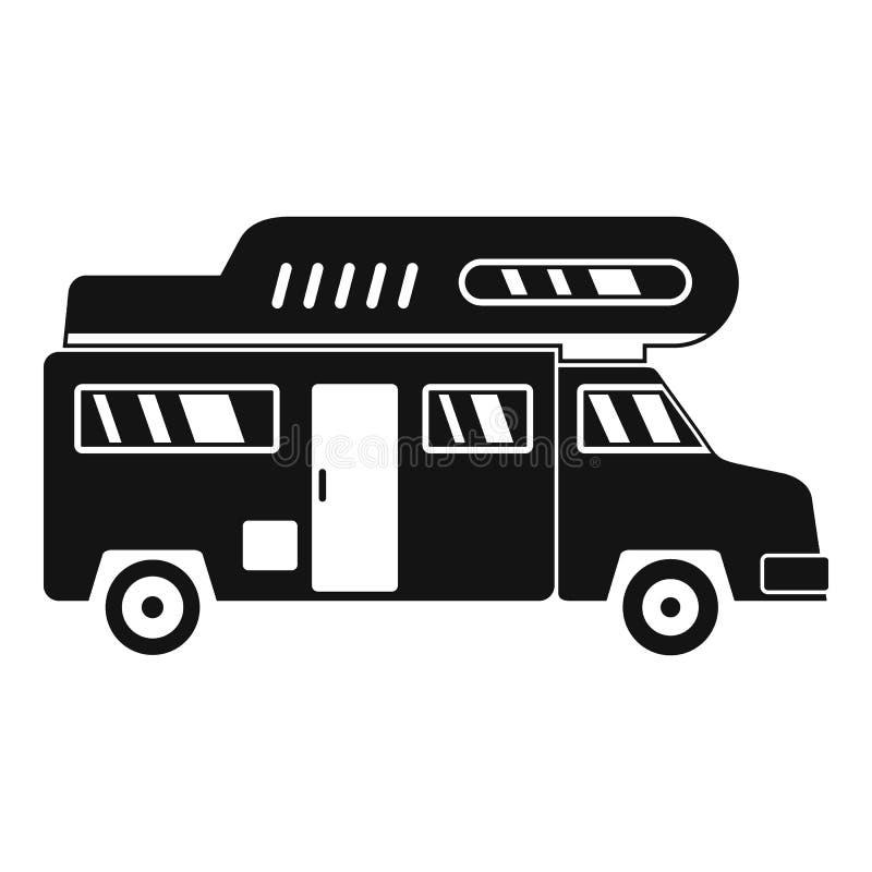 Icône de camion de camping, style simple illustration de vecteur