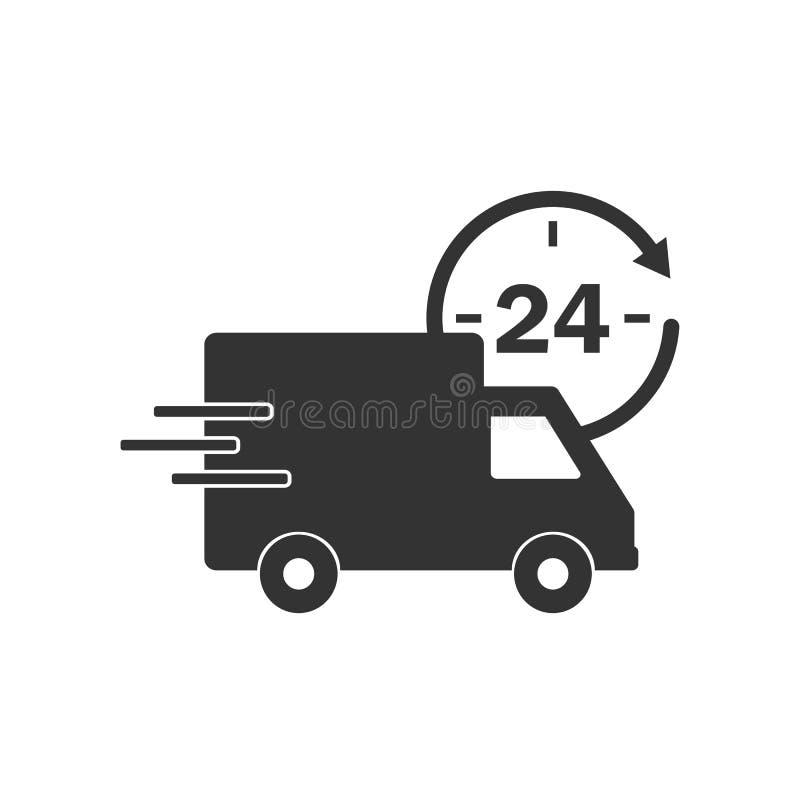 Icône de camion de livraison Illustration de vecteur, conception plate illustration libre de droits