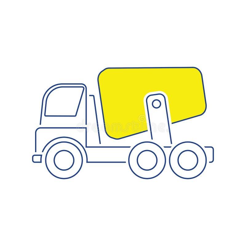 Icône de camion de mélangeur concret illustration libre de droits