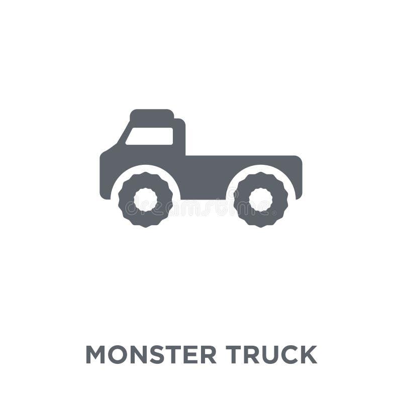 Icône de camion de monstre de collection de transport illustration libre de droits
