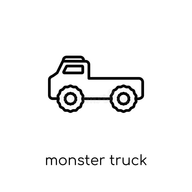 Icône de camion de monstre de collection de transport illustration de vecteur