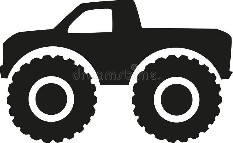 Icône de camion de monstre - commande à quatre roues illustration libre de droits