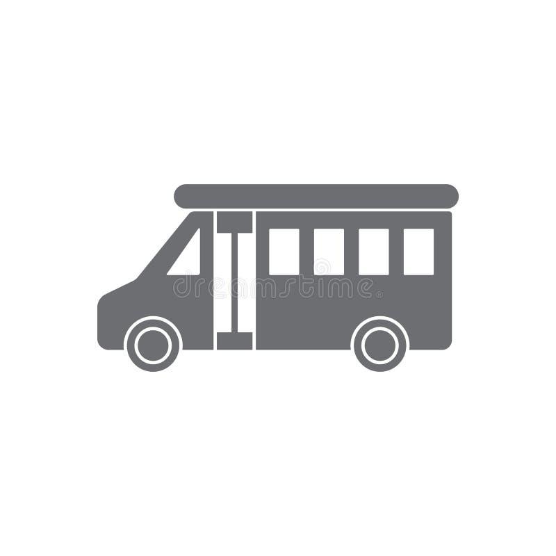 Icône de camping-car Illustration simple d'élément Conception de symbole de camping-car d'ensemble de collection de transport Peu illustration de vecteur