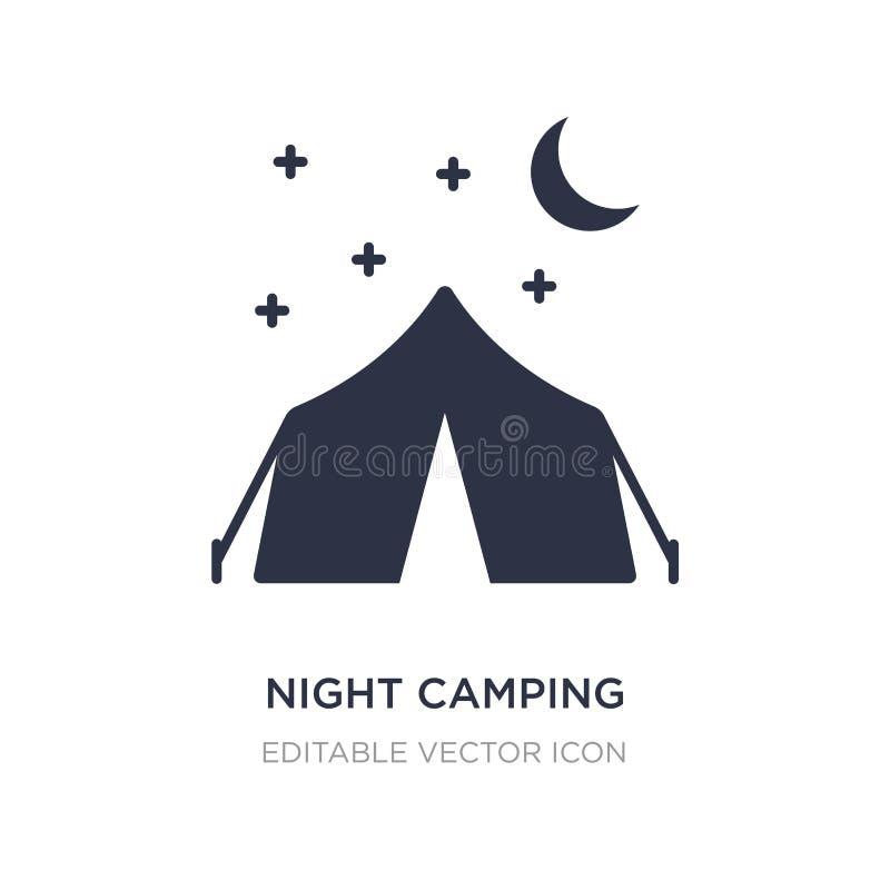 icône de camping de nuit sur le fond blanc Illustration simple d'élément de concept de nourriture illustration de vecteur