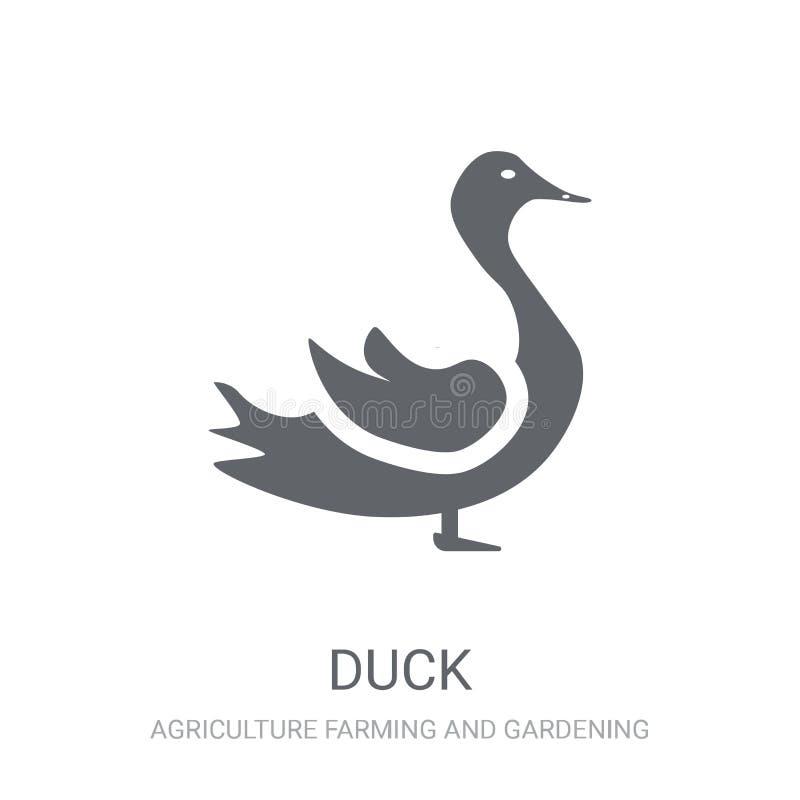Icône de canard  illustration de vecteur