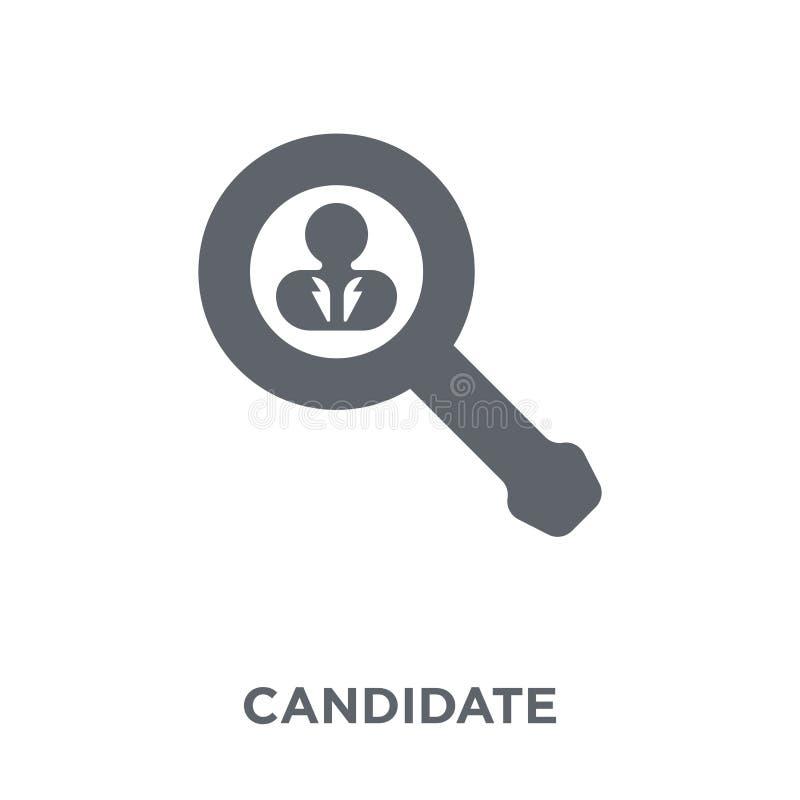 Icône de candidat de collection de ressources humaines illustration stock