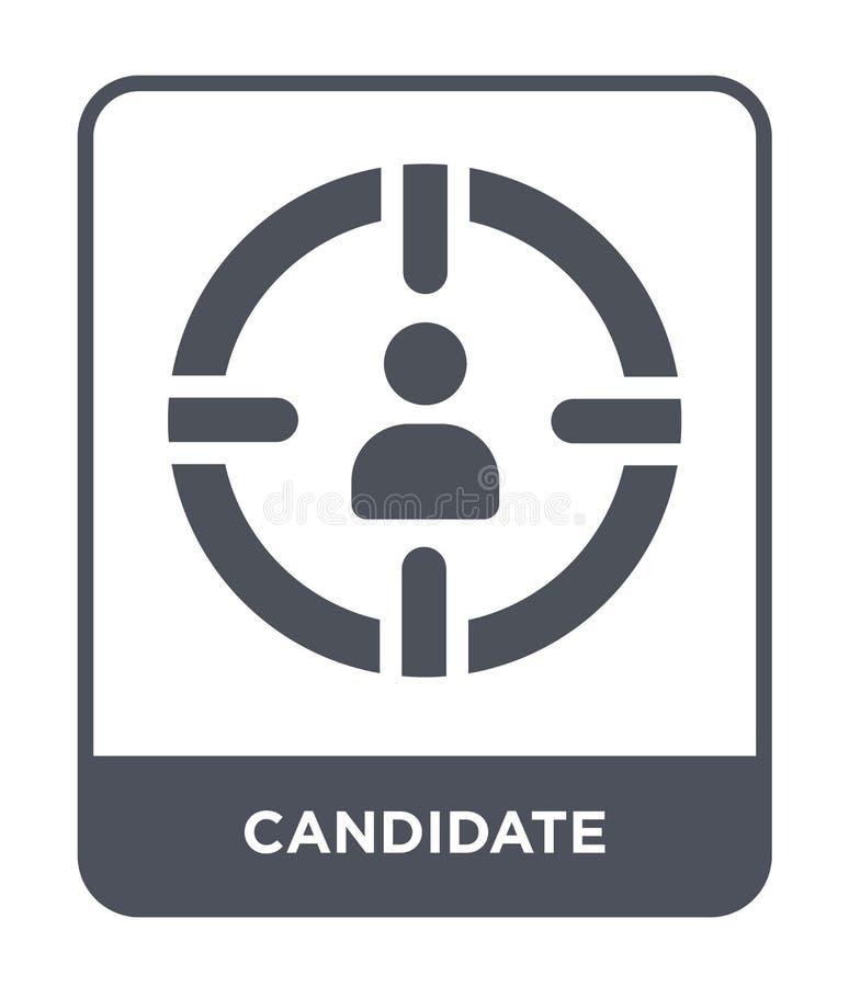 icône de candidat dans le style à la mode de conception Icône de candidat d'isolement sur le fond blanc appartement simple et mod illustration libre de droits