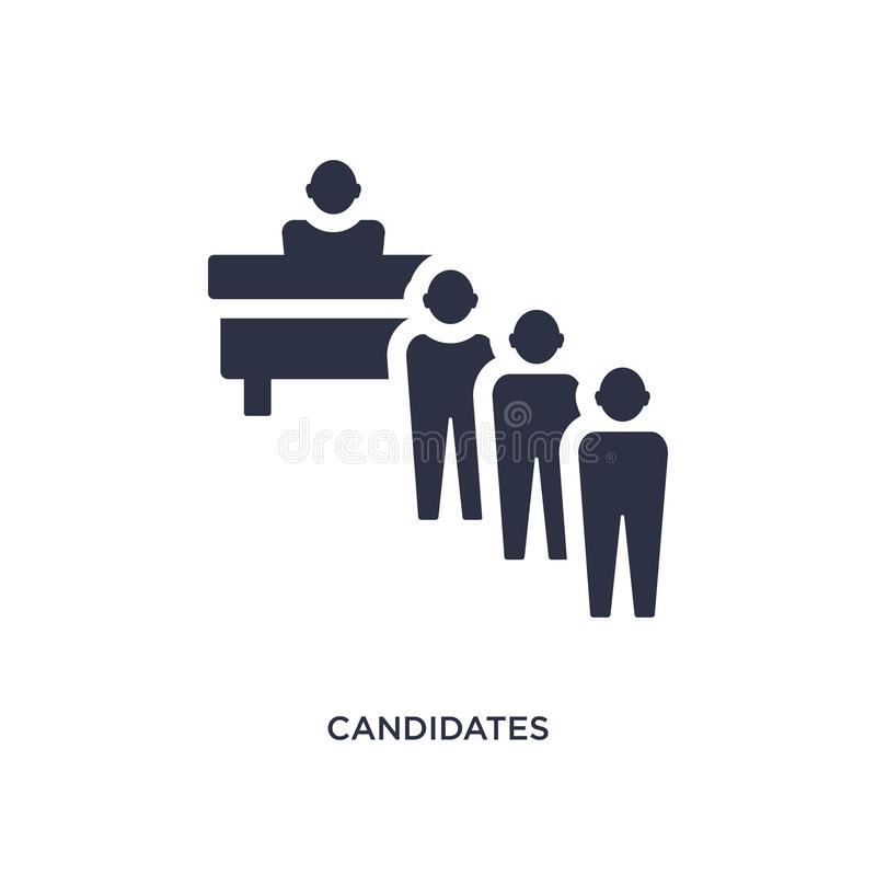 icône de candidats sur le fond blanc Illustration simple d'élément de concept de ressources humaines illustration stock