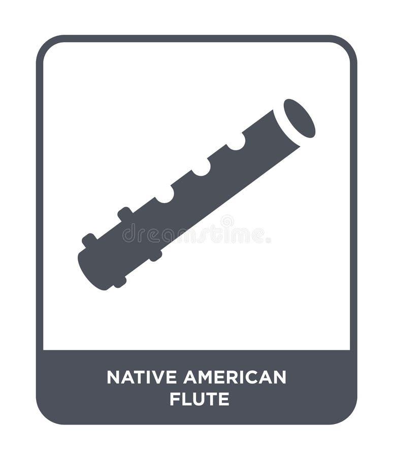 icône de cannelure de natif américain dans le style à la mode de conception icône de cannelure de natif américain d'isolement sur illustration stock
