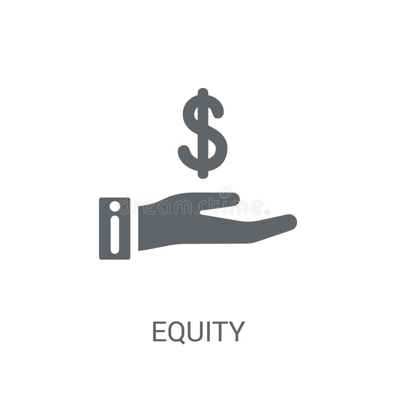 Icône de capitaux propres  illustration stock