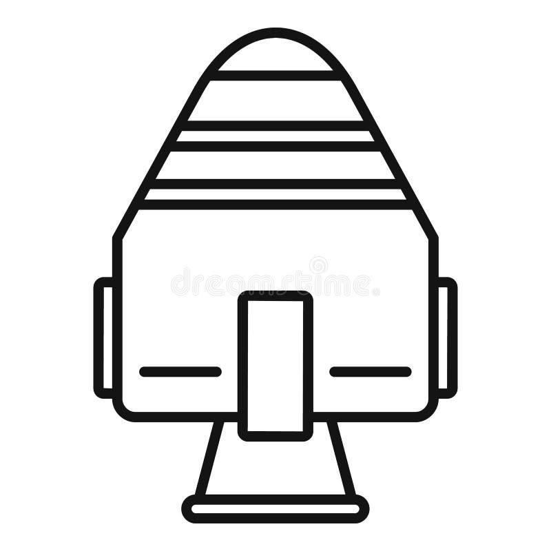 Icône de capsule de fusée d'espace, style d'ensemble illustration libre de droits