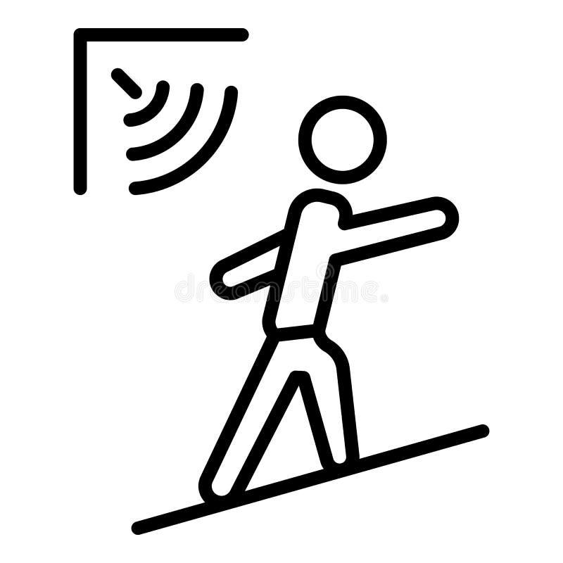 Icône de capteur de mouvement d'homme, style d'ensemble illustration libre de droits