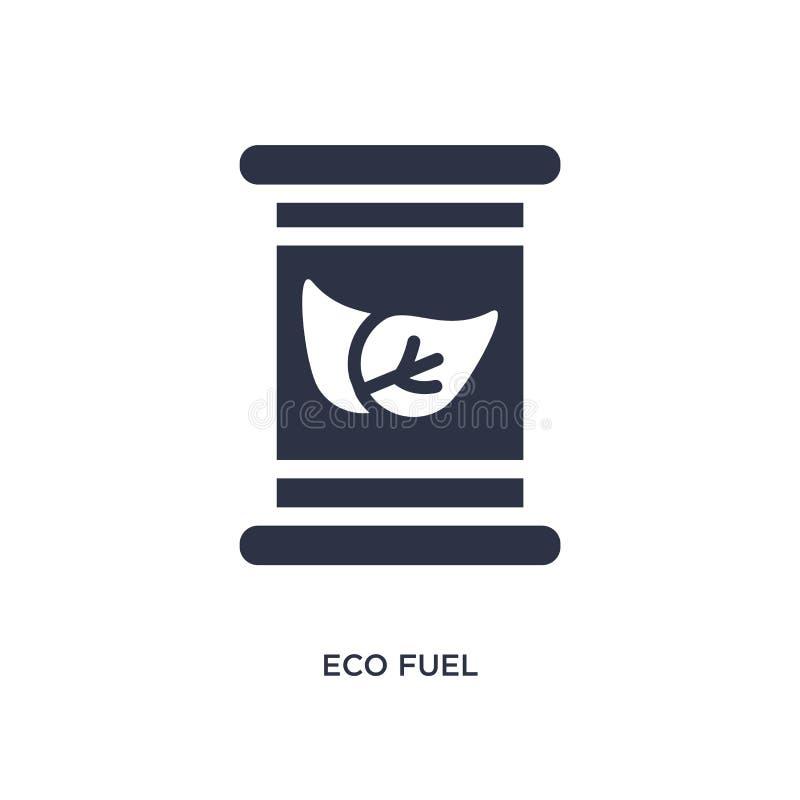icône de carburant d'eco sur le fond blanc Illustration simple d'élément de concept d'écologie illustration de vecteur