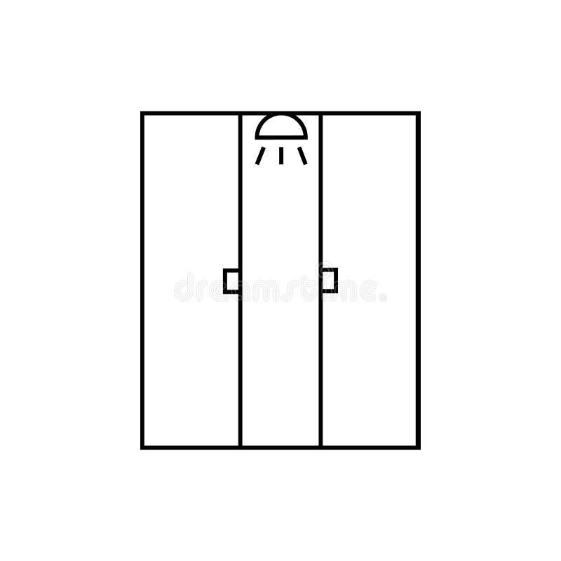 Icône de carlingue de douche illustration libre de droits
