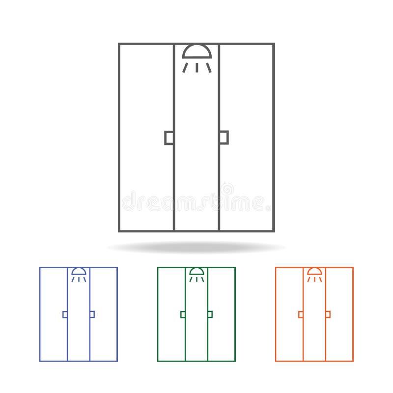 Icône de carlingue de douche L'élément de la salle de bains usine l'icône colorée multi pour les apps mobiles de concept et de We illustration libre de droits