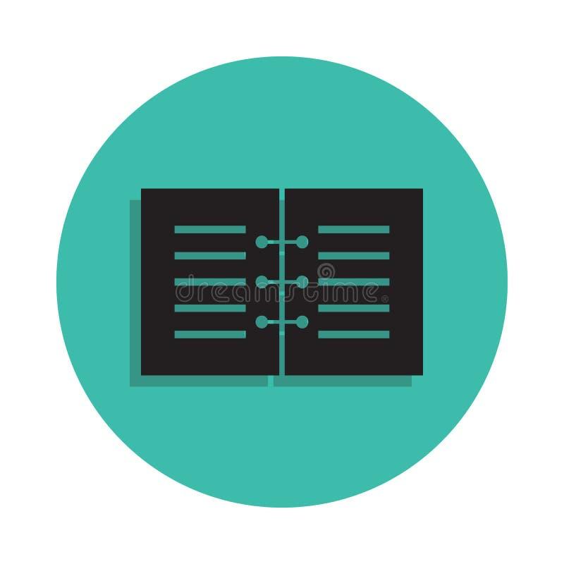 Icône de carnet Élément de maison d'impression pour le concept et l'icône mobiles d'apps de Web Ligne mince icône avec l'ombre da illustration libre de droits