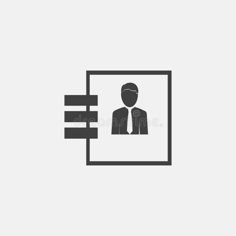 Icône de carnet illustration stock