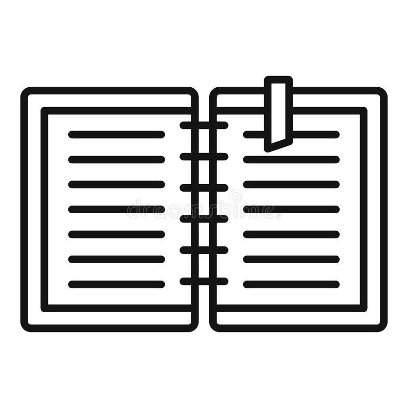 Icône de carnet d'architecte, style d'ensemble illustration libre de droits