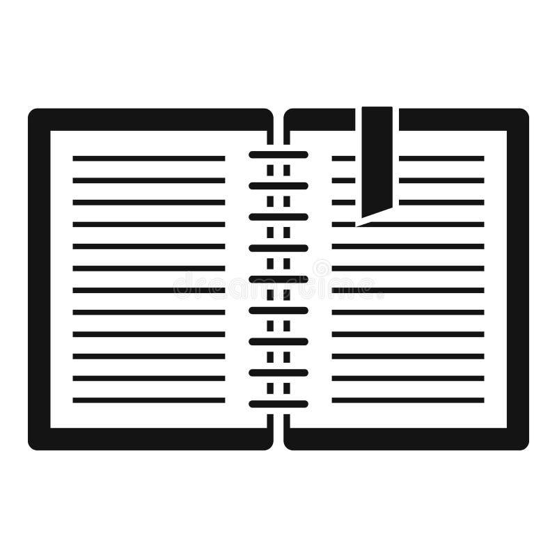 Icône de carnet d'architecte, style simple illustration libre de droits