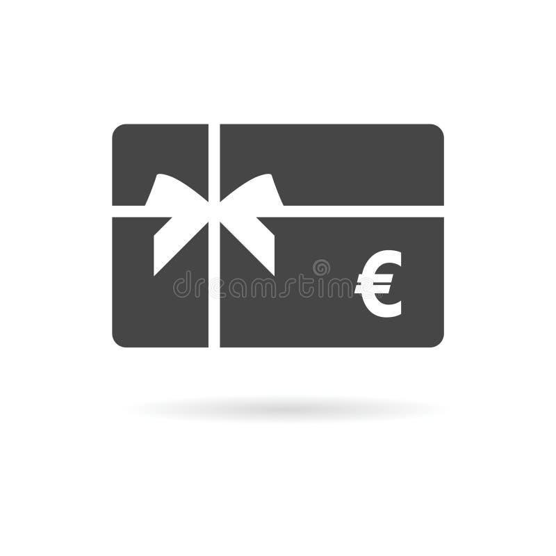 Icône de carte cadeaux d'achats, icône de carte cadeaux illustration de vecteur