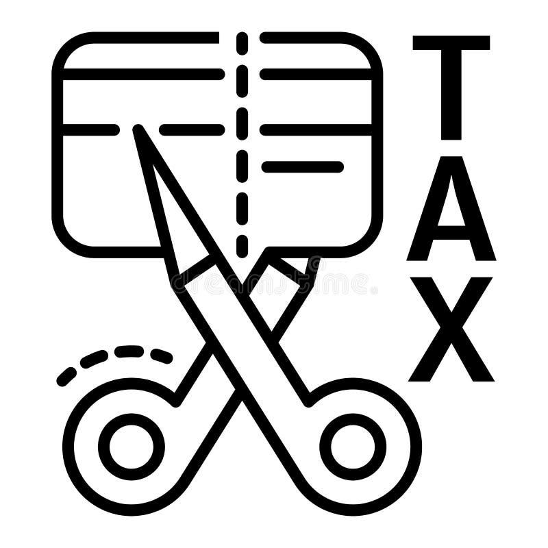 Icône de carte de crédit de réduction des impôts, style d'ensemble illustration libre de droits