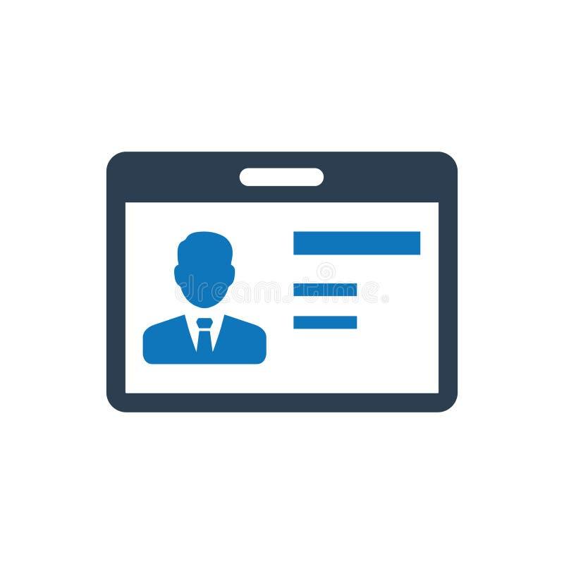 Icône de carte d'identité illustration de vecteur
