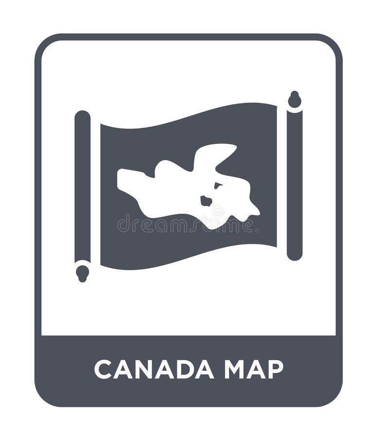 icône de carte du Canada dans le style à la mode de conception icône de carte du Canada d'isolement sur le fond blanc icône de ve illustration de vecteur