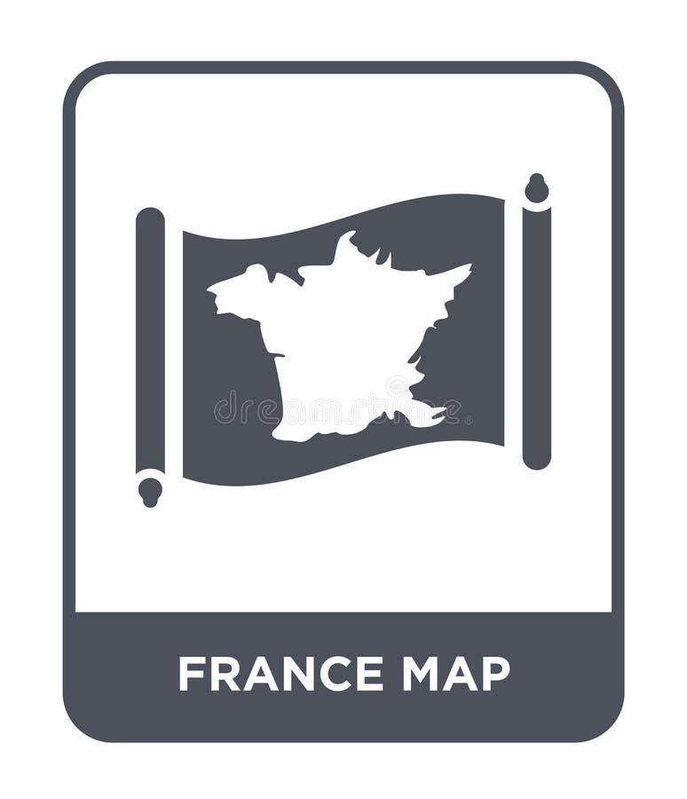 icône de carte de la France dans le style à la mode de conception icône de carte de la France d'isolement sur le fond blanc icône illustration libre de droits