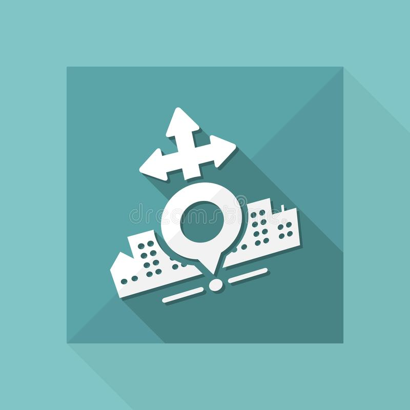 Icône de carte de ville illustration stock