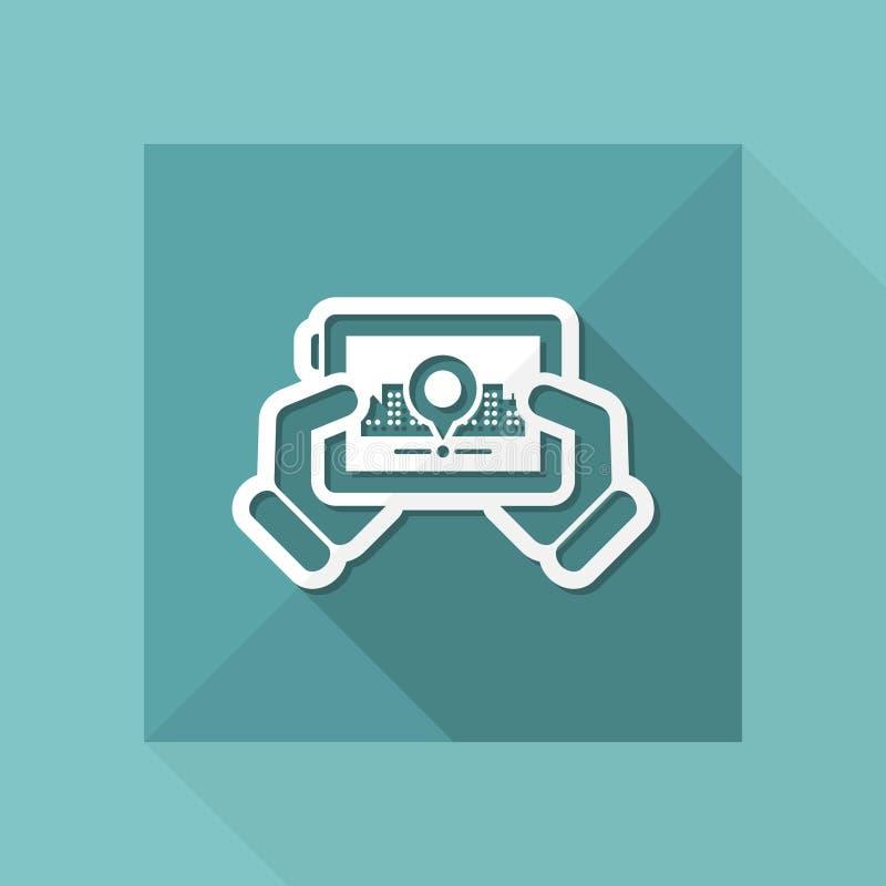 Icône de carte de ville illustration de vecteur