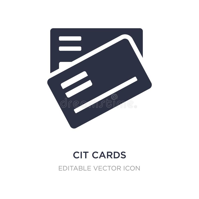 icône de cartes de CIT sur le fond blanc Illustration simple d'élément de notion générale illustration libre de droits