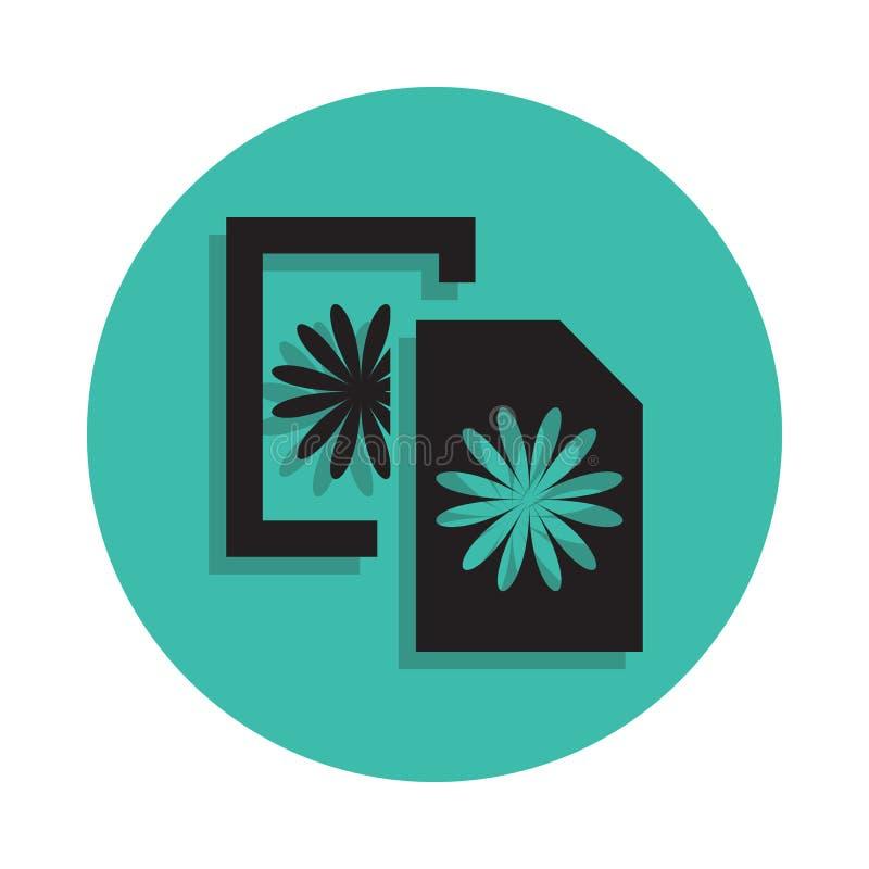 icône de cartes postales Élément de maison d'impression pour le concept et l'icône mobiles d'apps de Web Ligne mince icône avec l illustration libre de droits