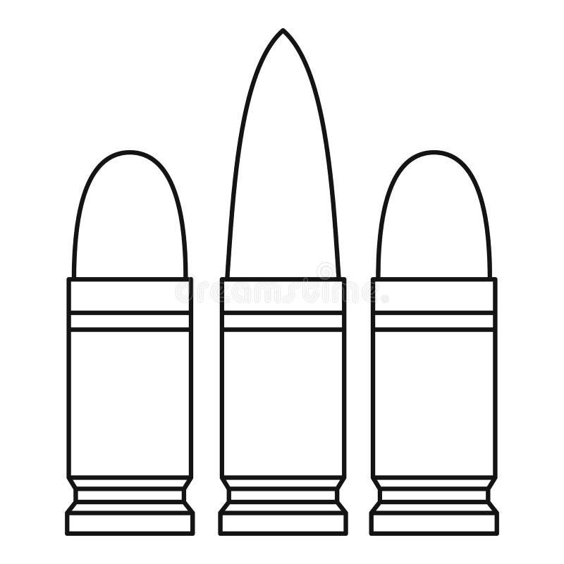 Icône de cartouches, style d'ensemble illustration stock