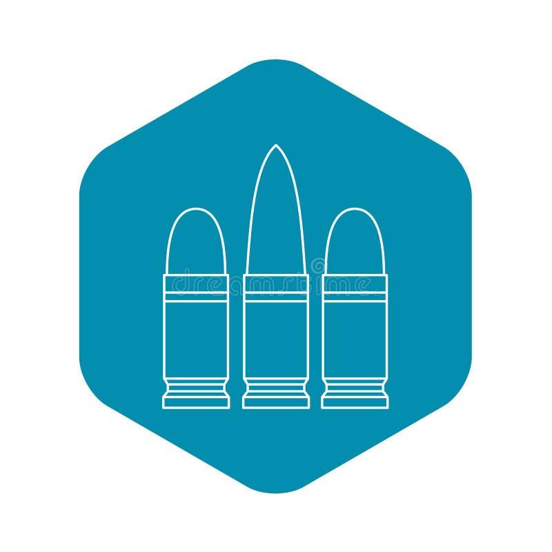 Icône de cartouches, style d'ensemble illustration libre de droits