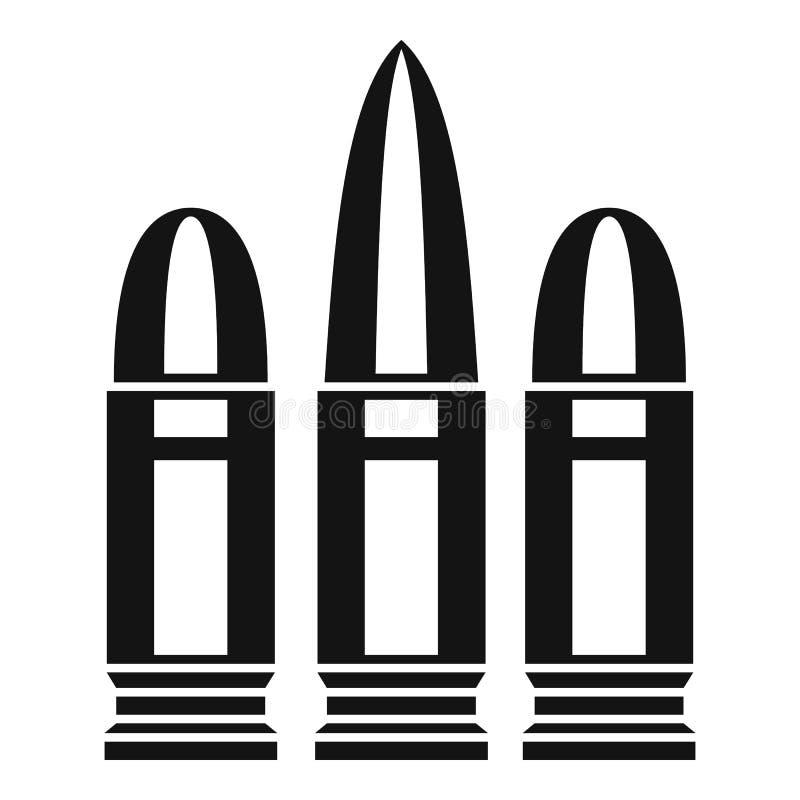 Icône de cartouches, style simple illustration libre de droits