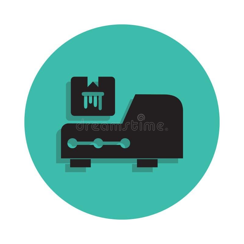 Icône de Cartridge d'imprimante Élément de maison d'impression pour le concept et l'icône mobiles d'apps de Web Ligne mince icône illustration libre de droits