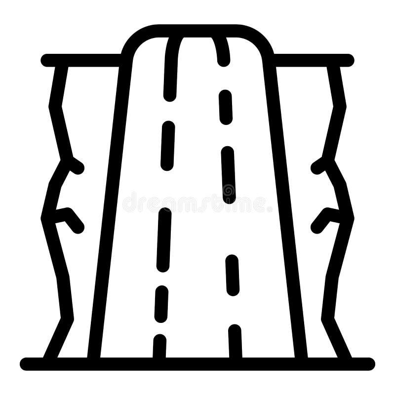 Icône de cascade, style d'ensemble illustration libre de droits
