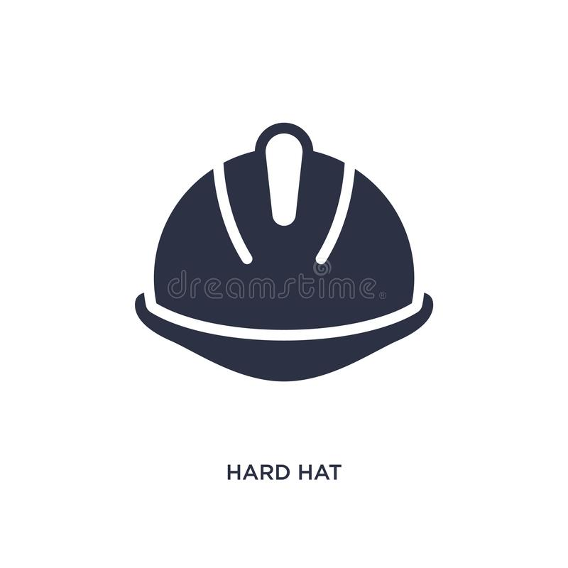 icône de casque antichoc sur le fond blanc Illustration simple d'élément de concept de productivité illustration stock