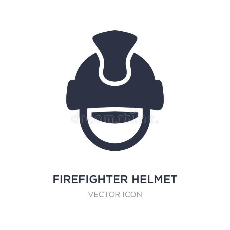 icône de casque de sapeur-pompier sur le fond blanc Illustration simple d'élément de concept vigilant illustration stock